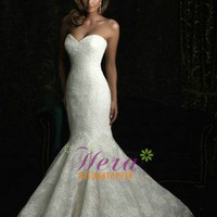 Hot Sell Mermaid / Trumpet Sweetheart Lace Wedding Dress 2012
