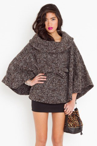 Camden Tweed Cape - NASTY GAL