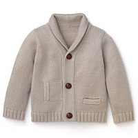 Pearls & Popcorn Infant Boys' Shawl Cardigan Sweater