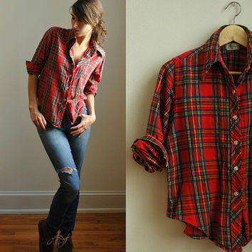 Woodsman Christmas Plaid by FoxandVintage on Etsy