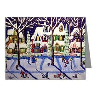 Snow Day Note Cards (Pk of 10)> Greeting Cards Post Cards Note Cards> Renie Britenbucher Artwork
