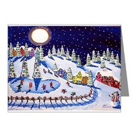 Christmas Ice Skate Holiday Note Cards (Pk of 10)> Greeting Cards Post Cards Note Cards> Renie Britenbucher Artwork