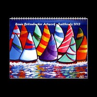 Sailboats Sailing Folk Art 2013 Calendar from Zazzle.com