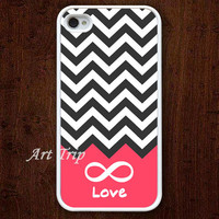 iPhone 4 Case, iphone 4s case -- chevron iPhone 4 Case, forever love iphone 4 case, geometric graphic iphone 4 case