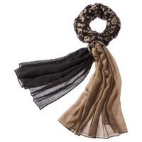 Merona® Floral Fashion Scarf - Black