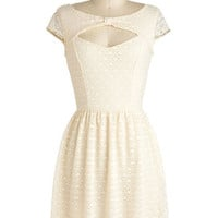 You&#x27;re My Ivory Thing Dress | Mod Retro Vintage Dresses | ModCloth.com