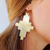 Southwestern Navajo Brass Earrings
