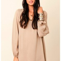 Riller & Fount - Long Sleeve A-Line Mini Dress