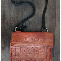 Treasure Blue - Tooled Moroccan Leather Clutch