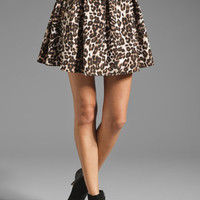 Naven Marilyn Skirt with Pockets in Leopard from REVOLVEclothing.com