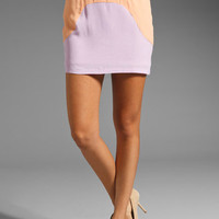Finders Keepers Talk This Over Mini Skirt in Lilac/Apricot from REVOLVEclothing.com