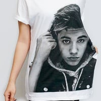 JUSTIN BIEBER New Star R&B Pop Rock Shirt White T-Shirt Women Shirt Women T-Shirt Men T-Shirt Unisex T-Shirt Screen Print Tee Shirt Size M