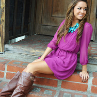 What's Up Her Sleeve Dress: Berry | Hope's