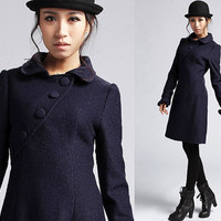 Blue wool dress (420)