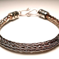 Double Viking Knit Bracelet in Sterling Silver