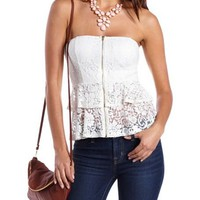 Tiered Lace Tube Top: Charlotte Russe