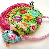 Crochet bag / purse pdf pattern &quot; Birdie purse &quot;