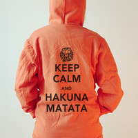 Unisex American Apparel Hoodies - Hakuna Matata - Orange
