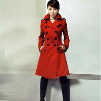 Korean Up Collar Style Double-breasted Beaver Coat China Wholesale - Sammydress.com