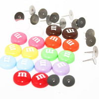 Make your own M&M Studs- Set for 9 pairs of studs