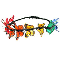 Rainbow Butterfly Head Crown | VidaKush