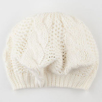 Cable Knit Womens Beret     203466160 | Hats | Tillys.com