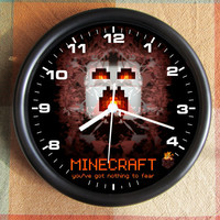 MINECRAFT  Ghast Video Game 8 Bit 16 Bit 10 inch Resin Wall Clock  25.00 Geekery RPG MMG