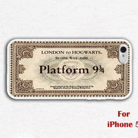 iPhone 5 Case, Express Train Ticket  iphone 5 case, white iphone 5 case