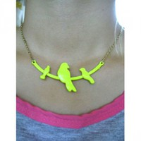 Neon Bird Necklace