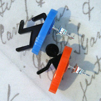 Laser cut acrylic Portal stud earrings by SVJewellery on Etsy