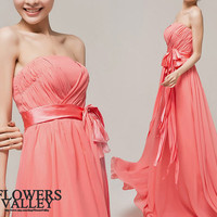 Peach Pink/ Bridesmaid Dress / Romantic / dresses /Fairy / Dreamy / Bridesmaid / Party / wedding / Bride