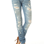 S&amp;P by Standards &amp; Practices Dusty Destructed Stretch Skinny Jean