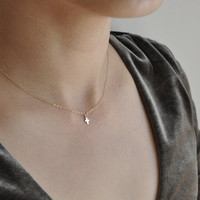 mini gold cross necklace, everyday jewelry, everyday necklace, gold filled, minimal