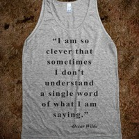 I am so clever (Oscar Wilde Tank) - The Coffee Shop