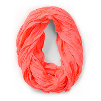 D&amp;Y Neon Pink Infinity Scarf