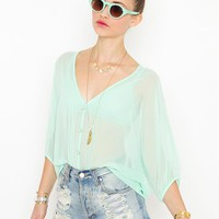 Meadow Chiffon Blouse