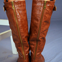 RESTOCK Giddy-Up Riding Boots: Copper | Hope&#x27;s