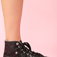 Zipped Sneaker - Black