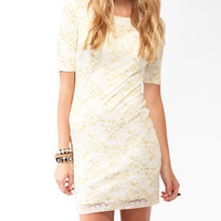 Metallic-Blend Lace Dress