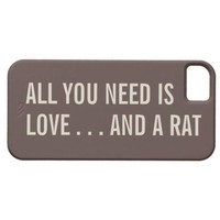 All You Need is Love... and a Rat iPhone 5 Case from Zazzle.com