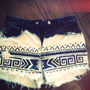 Aztec Ombre Highwaisted Shorts (Made to Order)