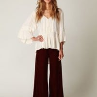 Free People Velvet Extreme Wideleg Pant at Free People Clothing Boutique
