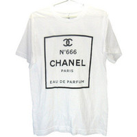 Killer Condo  Chanel no 666 T-shirt | Black on White