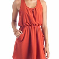 pocketed racerback tank dress $31.70 in BLACK CHAR RUST - Casual | GoJane.com