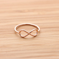 simple INFINITY ring, in pinkgold | girlsluv.it