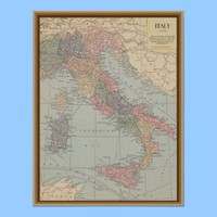 Vintage Map of Italy Print from Zazzle.com