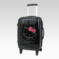 shop.sanrio.com - Hello Kitty Medium Rolling Luggage: Sitting Black