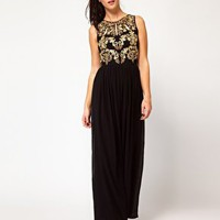 River Island Beaded Embellished Maxi Dress at asos.com