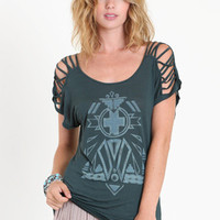 Madrid Cutout Tee by Gentle Fawn - &amp;#36;52.00 : ThreadSence.com, Your Spot For Indie Clothing &amp; Indie Urban Culture
