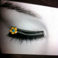 Yellow & Blue Summer Flower False Eyelashes Buy 2 get 1 free